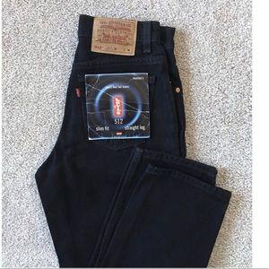 Vtg Levi's 512 High Rise Slim Fit Straight Jeans